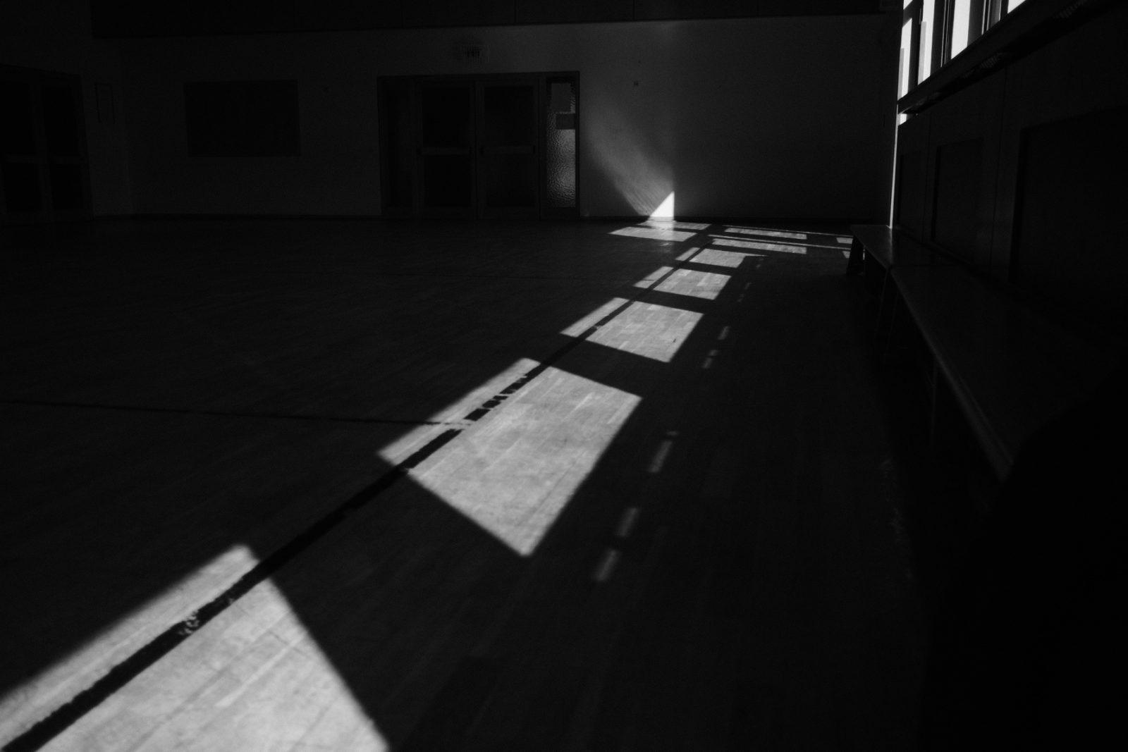 Schatten und Turnschuh-Muff